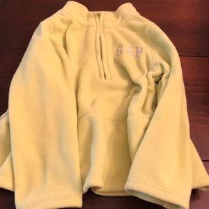Lime Green Baby Gap Fleece Zip Up